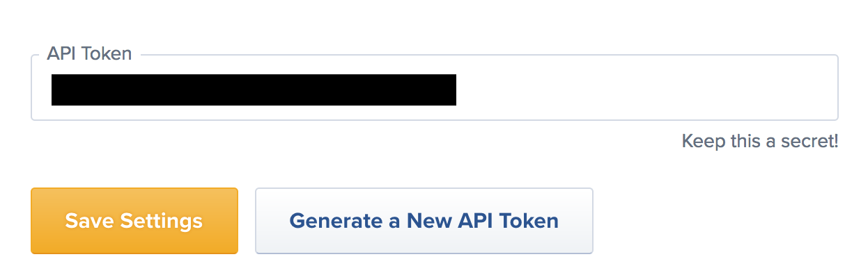 Copy API Token